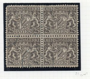 Bayern 1916 Official Early Issue Fine Used 25pf. NW-10799