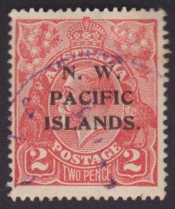 2p KGV Rose-scarlet - NORTH WEST PACIFIC ISLANDS OVERPRINT OG - USED