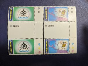 Barbados 475-8 XFNH complete set gutter pairs, CV $5.80