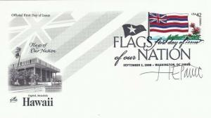 4287 44c HAWAII FLAG - Signed by Stamp Designer H. E. Paine -