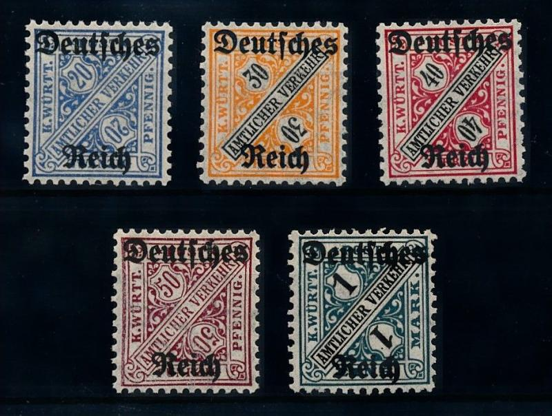 [70850] Germany 3rd Reich 1920 Official Stamp OVP D57-D64  MNH