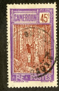 FRENCH CAMEROUN 187 USED SCV $1.60 BIN .80 PERSON