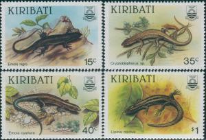 Kiribati 1987 SG274-277 Skinks set MNH