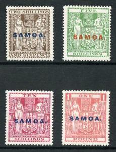 Samoa SG171/4 1932 NZ Postal Fiscal Opt SAMOA Set of 4 Fresh M/Mint (hinge rema
