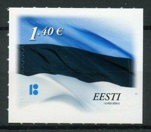 Estonia Flags Stamps 2020 MNH Estonian Flag Reprint National Emblems 1v S/A Set