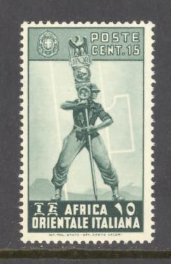 Italian East Africa Sc # 5 mint never hinged