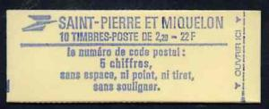 Booklet - St Pierre & Miquelon 1986 Liberty 22f bookl...