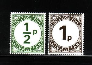 Gibraltar J4-J5 MNH Numerals, Postage Due