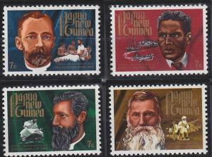 Papua New Guinea MNH 355-8 Pioneering Missionaries Christmas 1972