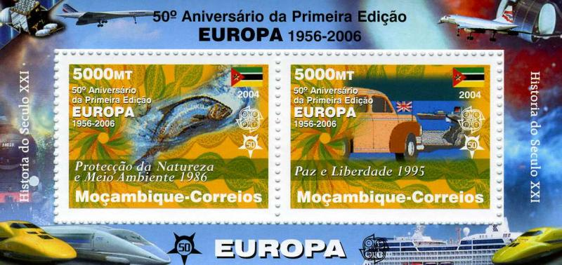 Mozambique 2006 Europa 50th. Anniversary Mini Sheet Perforated mnh.vf
