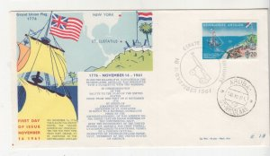NETHERLANDS ANTILLES,1961 Salute to the US Flag 20c. First Day cover