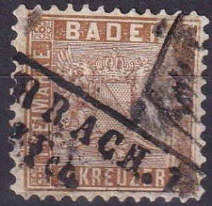 Baden #17 F-VF Used  CV $72.50 (Z9475)