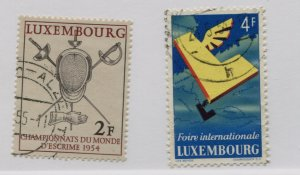 LUXEMBOURG  298-99  USED