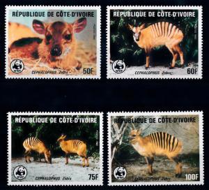 [66326] Ivory Coast 1985 WWF Antelope  MNH