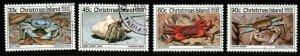 CHRISTMAS ISLAND SG199/202 1985 CRABS (2nd SERIES) FINE USED