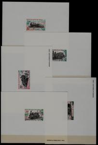Mali 140-44 MNH epruve sheets Locomotives