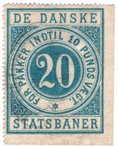 (I.B) Denmark State Railway : Parcels 20 Ore