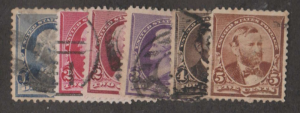 U.S. Scott #219-223 Stamp - Used Single
