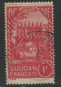 French Sudan Scott 86 Used stamp from 1931-1940 set