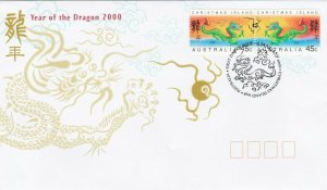 CI7) Christmas Island 2000 Chinese New Year Series - Year Of The Dragon