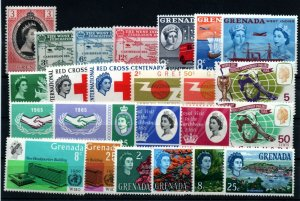 Grenada - (24) MH (few h rems)  Issues / Nice Group     -      Lot 0221025