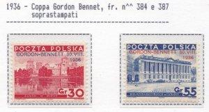 1935-37 Poland / Polen / Poland/ Polska, N° 299/300+312/318 9 Values MNH