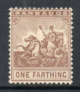 Barbados 1909 ¼d Seal of Colony wmk MCCA SG 163 mint
