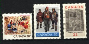Can #1040,1043-44   -2   used VF 1984 PD