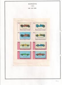 SCOTLAND - BERNERA - 1982 - Cars - 8v Imperf Sheet - MLH