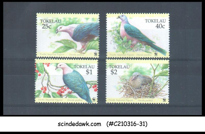 TOKELAU - 1995 PIGEON / BIRD / BIRDS - 4V - MINT NH