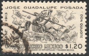 MEXICO C278, 50th Anniv death of J. Guadalupe Posada. USED. F-VF. (1145)