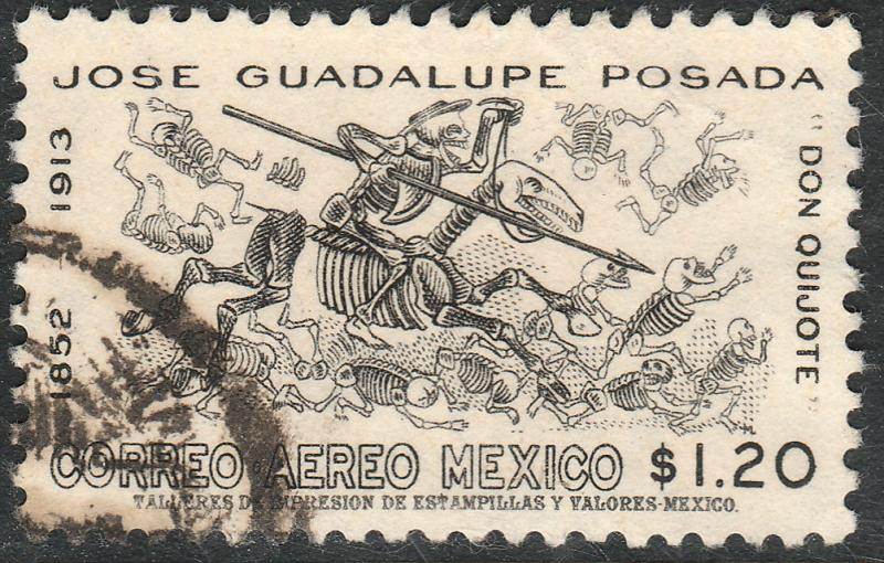 MEXICO C278, 50th Anniv death of J. Guadalupe Posada. USED. F-VF. (1145)