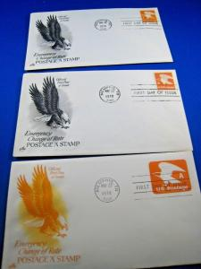 U.S. FIRST DAY COVER SETS - LOT of 3 - 1978 A STAMP      (FDC-31x)