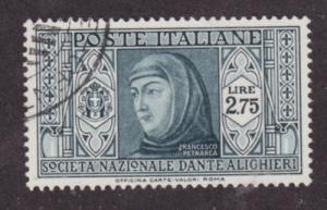Italy Sc 277 used 1932 2.75l gray green Francisco Petrarca, fresh, sound, VF