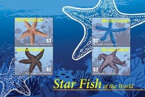 2020/12 - MARSHALL ISLANDS - STARFISH     4V  complet set    MNH ** T