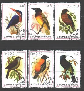 Sao Tome and Principe. 1979. 604-9. Birds fauna. USED.