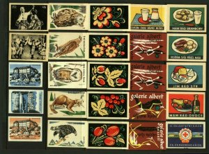 Czechoslovakia Advertising Matchbox Labels - Various (25v) Fine Cinderellas