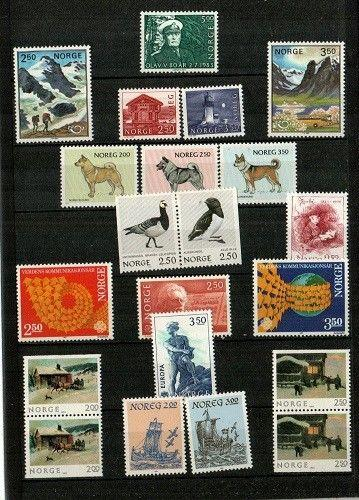 Norway Scott 816-32 Mint NH (1983 Year Pack) - CV $25.80