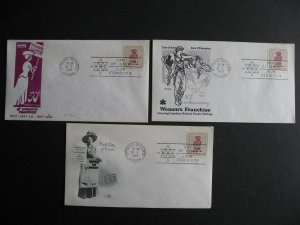 Canada Womens Vote 3 different cachet FDC First day covers Sc 470 singles