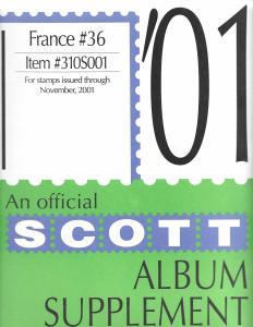 Scott France #36 Supplement 2001