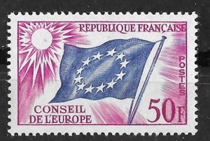 France #  1O6  Council of Europe - Official  50fr.  (1)   Mint NH