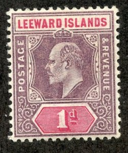 Leeward Isl, Scott #21 Unused, Hinged