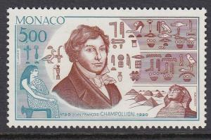 Monaco 1733 Champollion, Egyptologist mnh