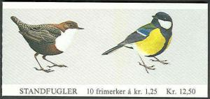 NORWAY #761-2 (H54) Complete Bird Booklet, VF