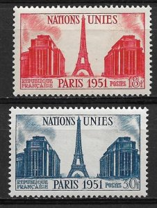 1951 France 671-2 United nations MNH C/S of 2