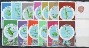 Vanuatu Sc 280-92 maps long stamp set mint NH