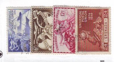 Grenada Sc 147-50 1949 UPU stamp set  used