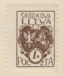 Central Lithuania Mittellitauen Lituanie Lituania 1921 1m MH* A8P11F135