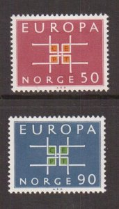 Norway  #441-442  MH  1963  Europa