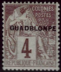 Guadeloupe GUADBLONPE ERROR Sc #16 Unused F-VF...Weird and Wonderful!